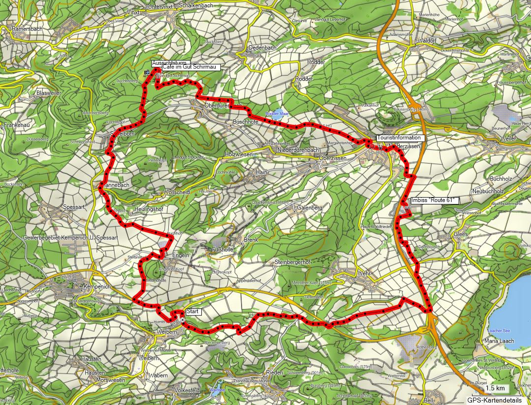 "Bike-Route ""Gut Schirmau"""
